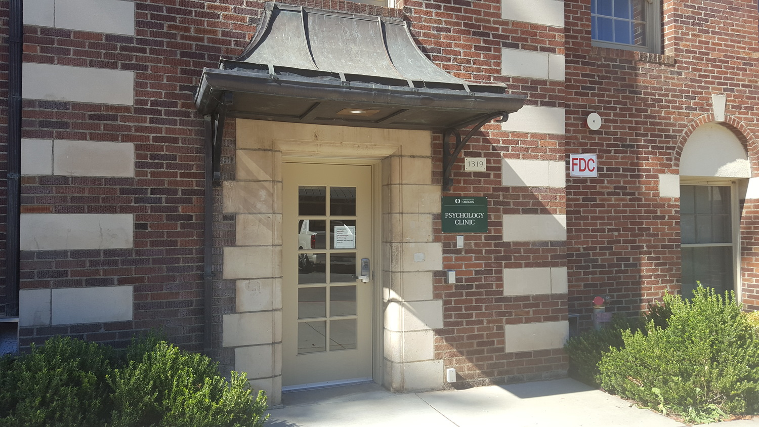 Psychology clinic entrance